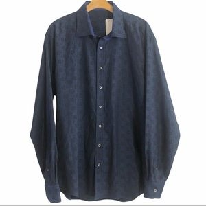 Bugatchi men's button down dress shirt size XXL